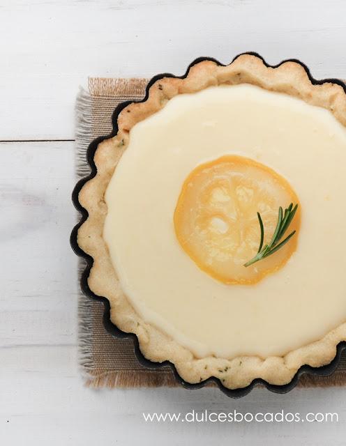 Tartaleta de romero con limón