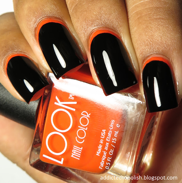 black orange halloween ruffian nails