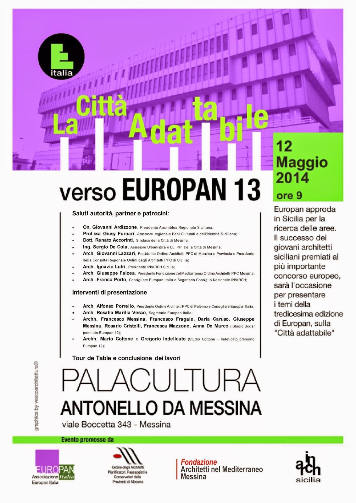 """SEMINARIO ARCHME: """"LA CITTA' ADATTABILE - VERSO EUROPAN 13"""""""