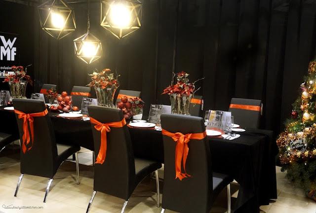 Table set up untuk acara makan malam bersama Chef John Sawarto