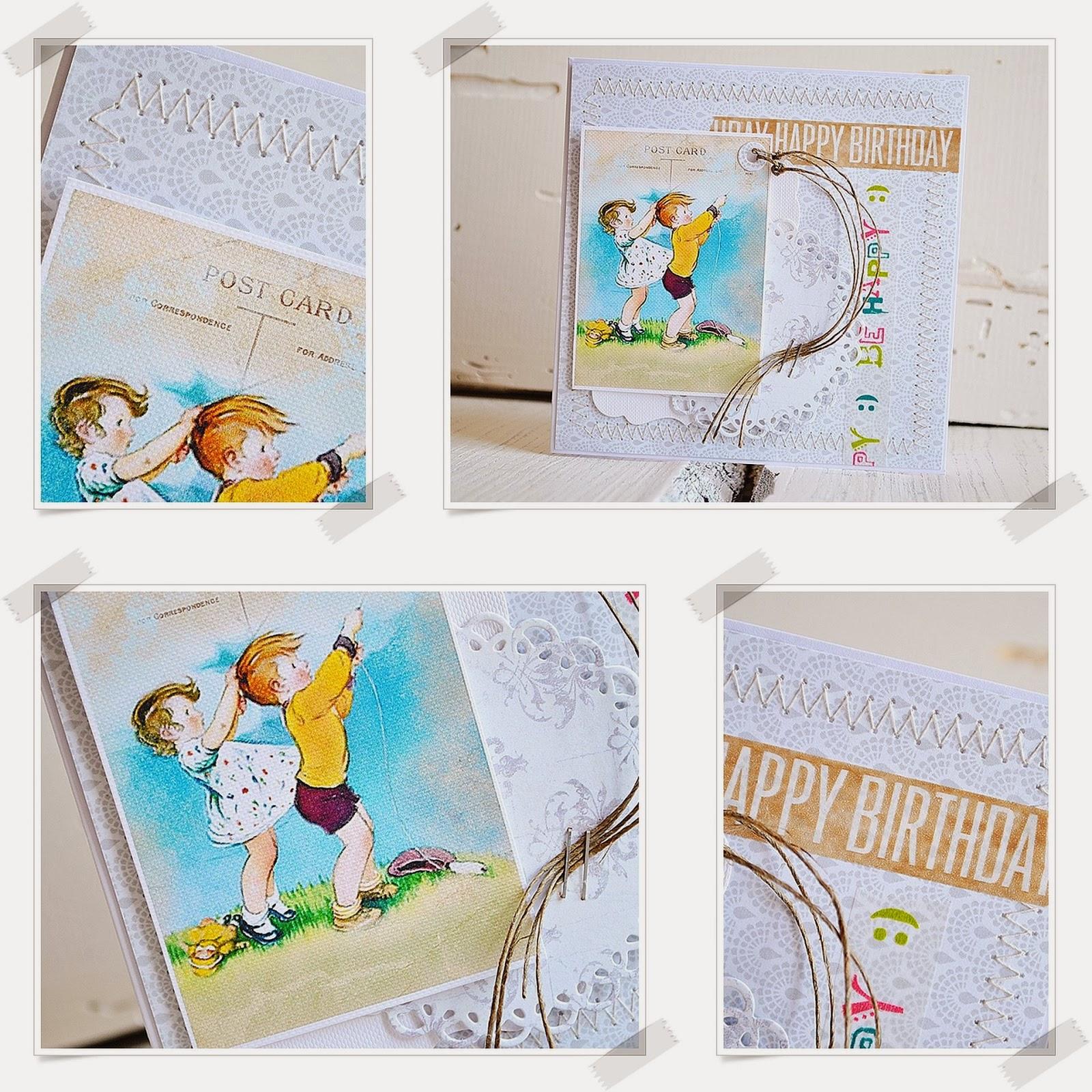 kartka urodzinowa scrapbooking