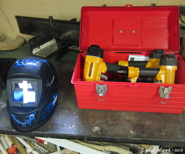 welder mask, auto dim, bostitch nail gun kit