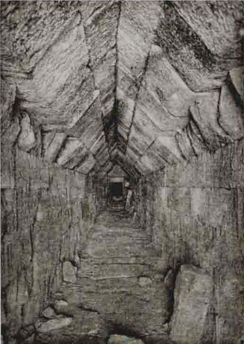 Corridor leading to matching device of Thracian tomb near Mezek infrasound receiver