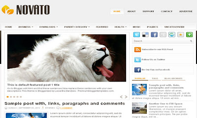 Novato Blogger Templates