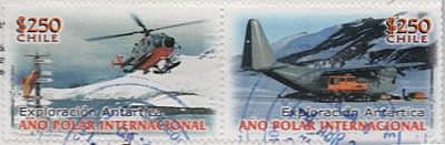 helicopters on Chilean stamps