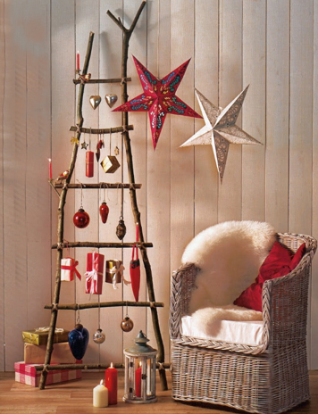 árbol de Navidad escalera