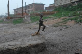 african child running