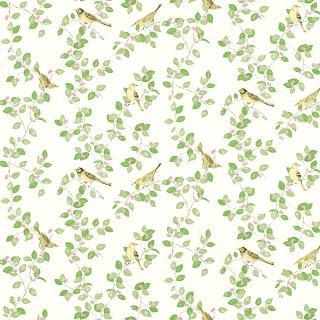 Papel pintado Aviary Garden Verde Manzana