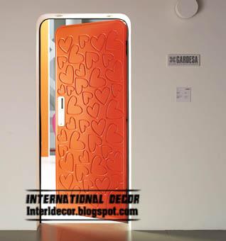 modern orange interior door 2015  heart patterned door design 2015. Modern art doors 2015  modern doors designs and colors