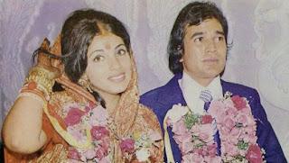 Dimple Kapadia with husband Rajesh Khanna