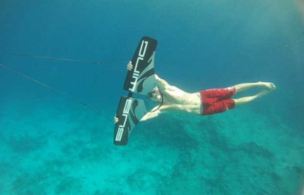 sport product invented in the summer of 2010 by simon sivertsen it allows you to fly through the water much like a dolphin the carbon fiber wings carbon fiber tape furniture