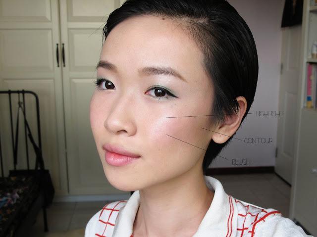 blusher contour highlight guide