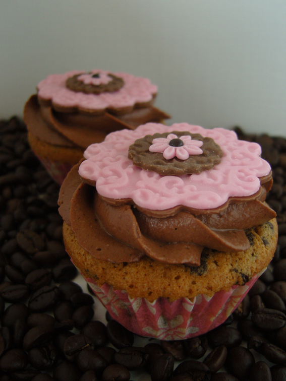Kaffee-Schokoladen-Cupcakes