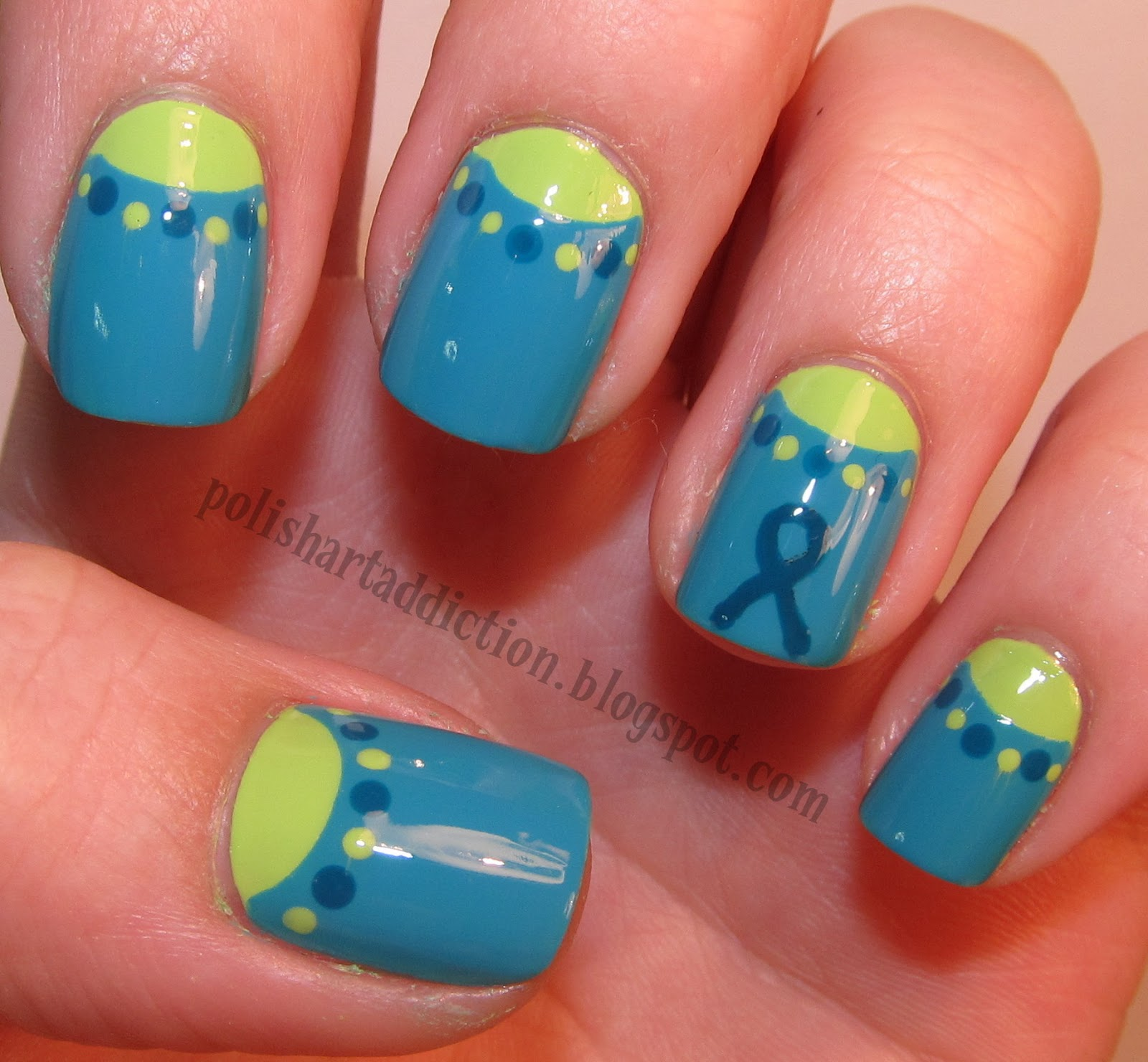 Ovarian Cancer Awareness Nail Art Tutorial