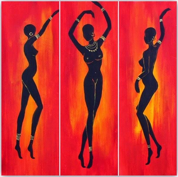cuadros-tripticos-modernos-africanos