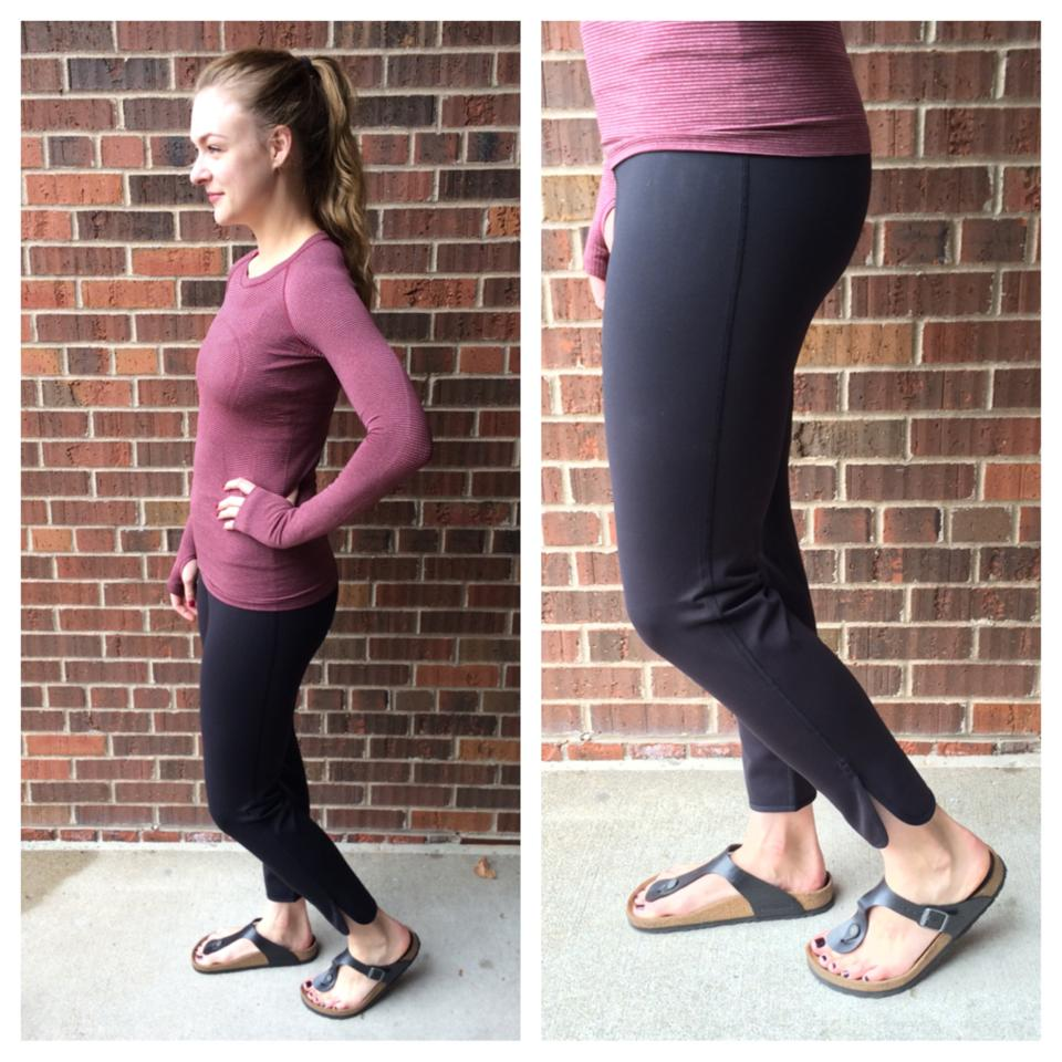 lululemon straight to class pant rust berry swiftly
