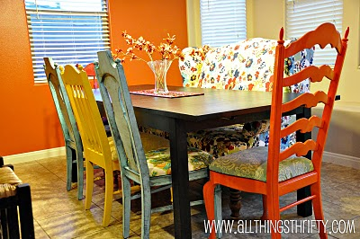 tristinandcompany linky love colorful dining room chairs