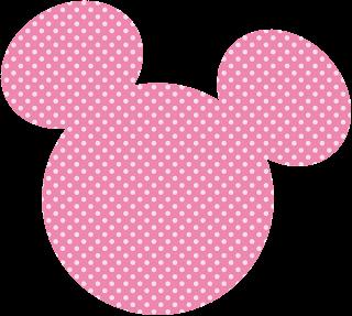 dibujo de cabeza de minnie mouse rosa