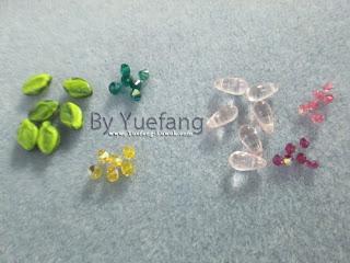 beaded_flower_materials_Czech_leaves_dagger_transparant_pink_beads