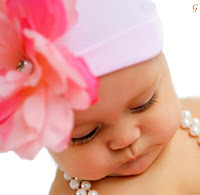 Baby Pinture With pink Flower Images