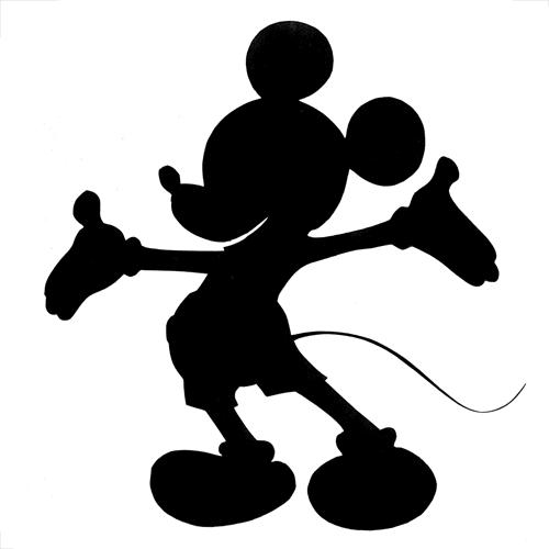 Silueta de mickey mouse para imprimir - Siluetas para imprimir ...