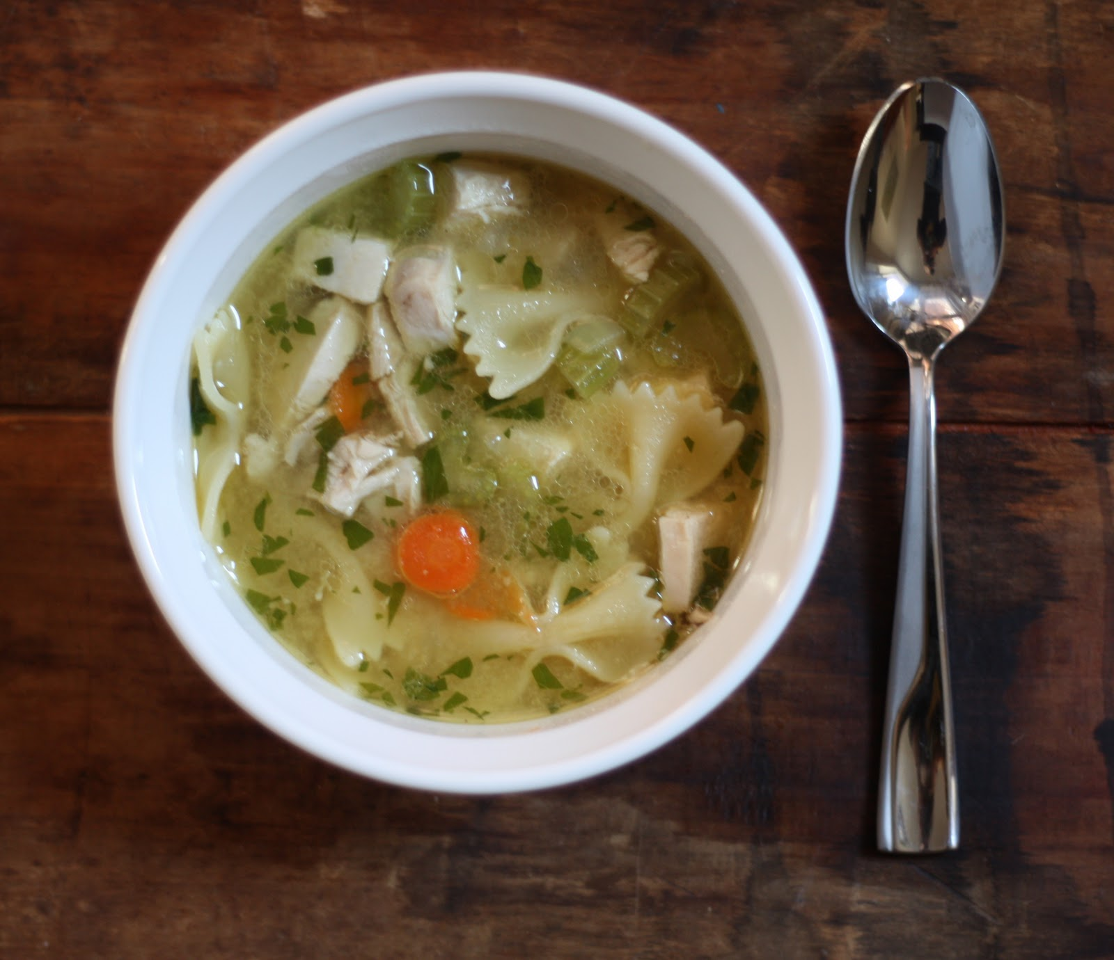 e a t from scratch homemade chicken noodle soup