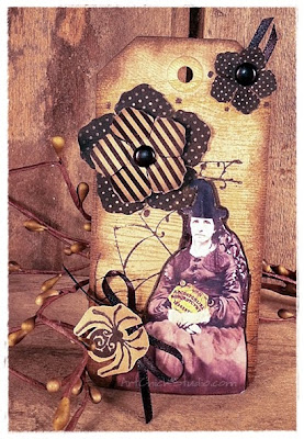 Getting Witchy Altered Art Hang Tag
