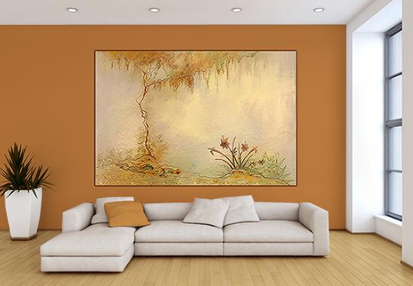 décoration mur couleurs automnales