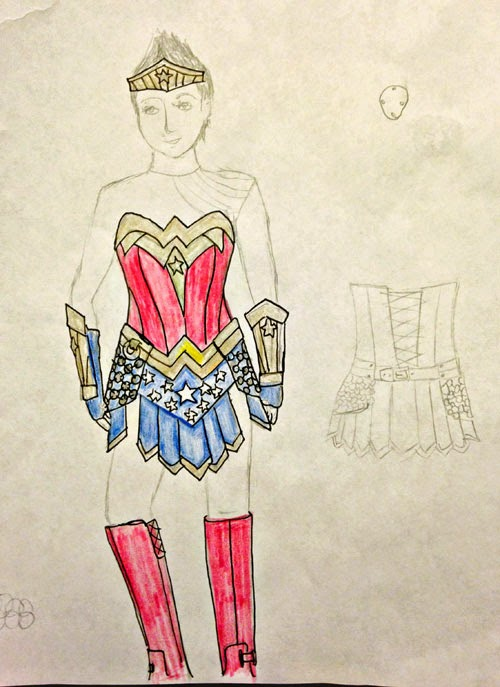 wonder woman costume sketch