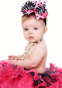 Couture baby hair bow