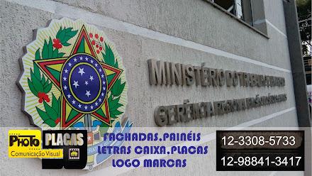 LETRAS CAIXA MINISTÉRIO DO TRABALHO DE SÃO JOSÉ DOS CAMPOS, SÃO PAULO
