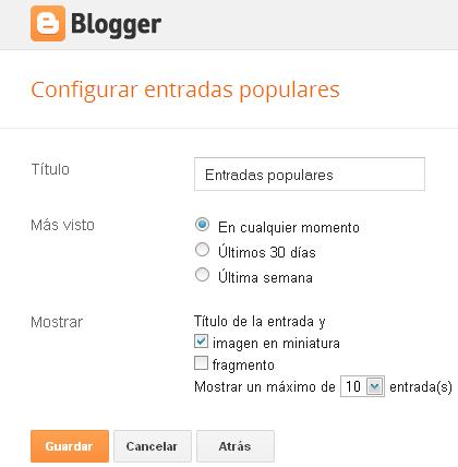 Slider carrusel para blogger