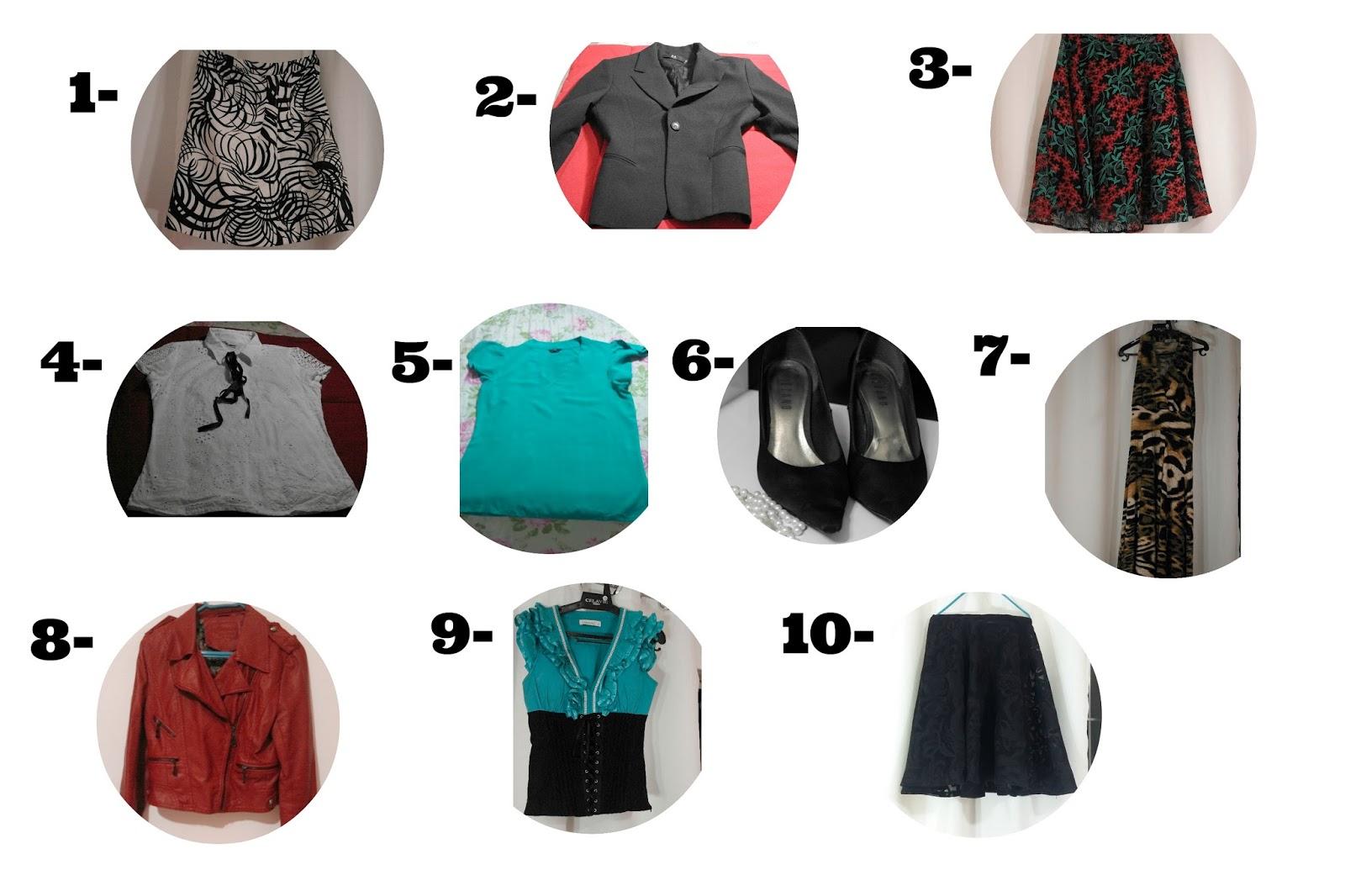 Desafio 10X10 10 peças 10 looks blog estilo modas e manias