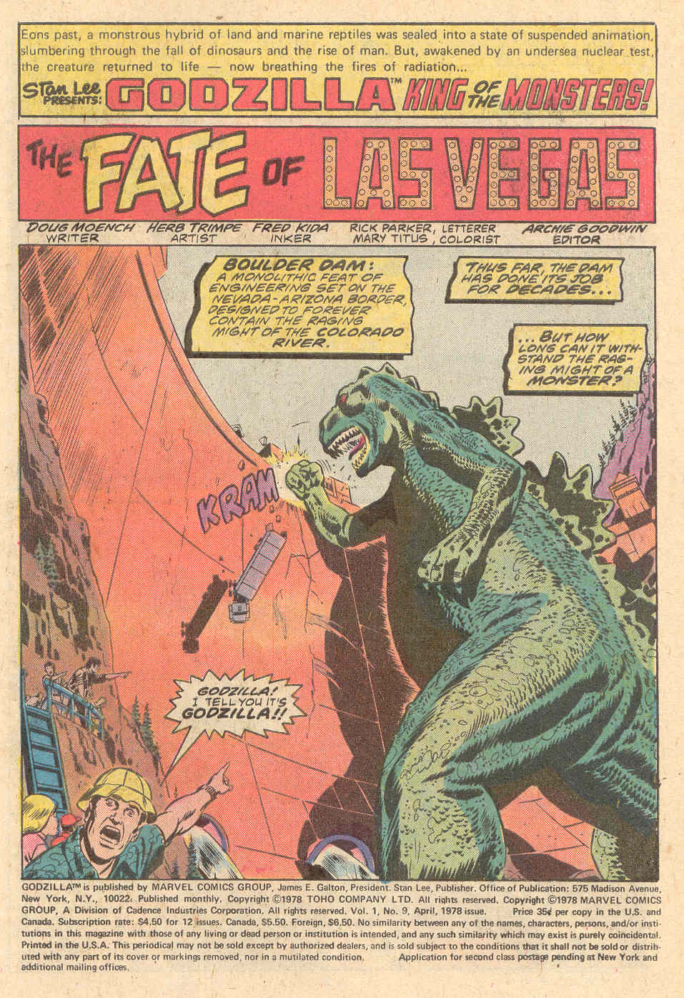 Godzilla (1977) Issue #9 #9 - English 2