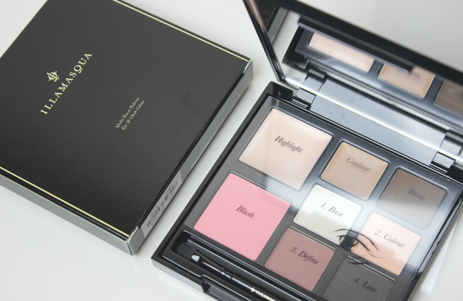 A picture of the Illamasqua Aura Facets Palette