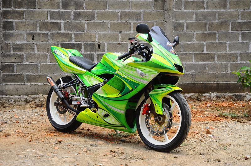 modif kawasaki 150 awalnya motor 150 cc tersebut hanya diberi title=