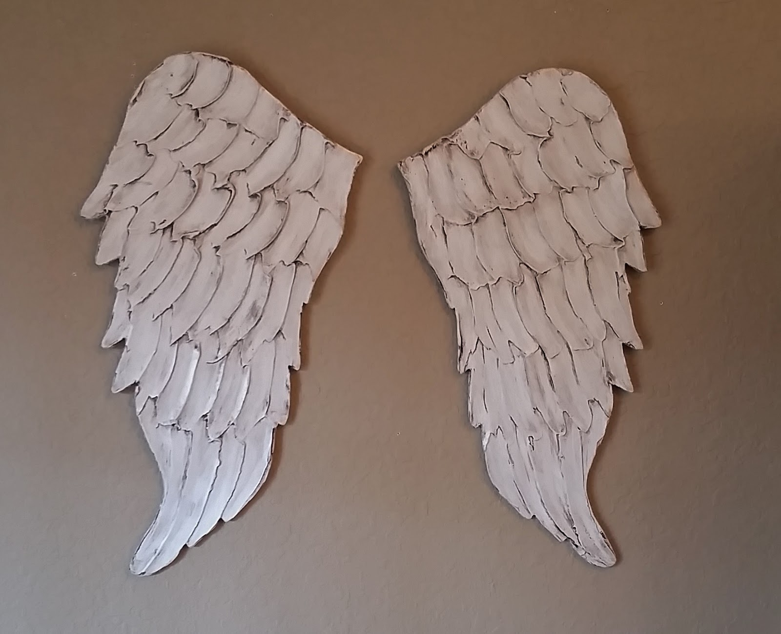 Wooden Angel Wings Wall Decor angel wing wall art, carved wood look | lucy designs