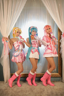 Tasha-Eki-Geumdongei Cosplay as Vocaloid Idolmaster Miku-Luka-Ren