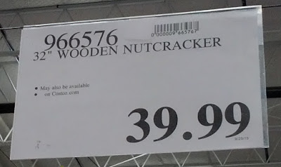 Deal for a Wooden Nutcracker for Christmas at Costco