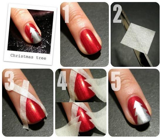 DIY Christmas Nails Art