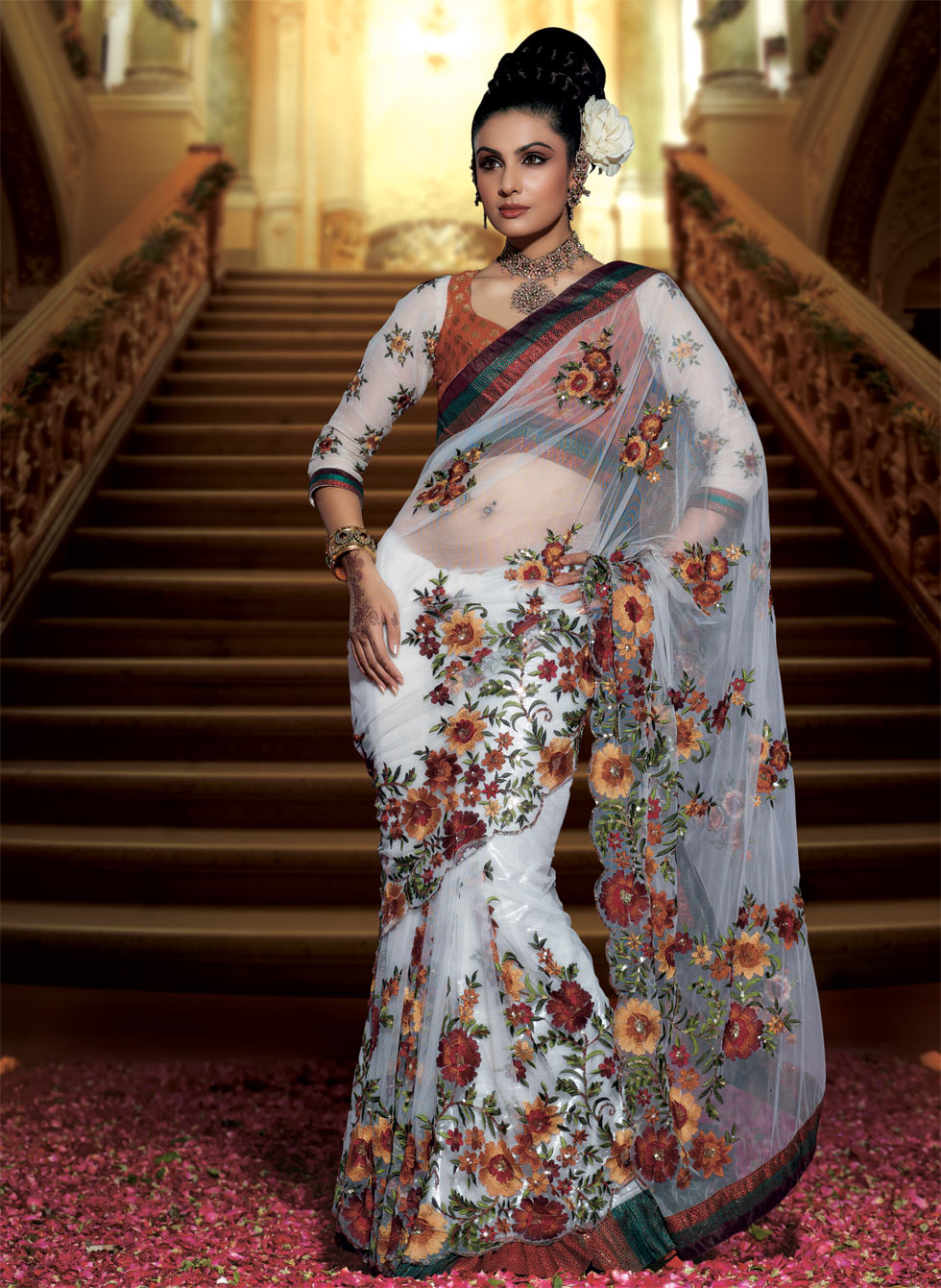 Neeta Lulla Saree Collection http://drawingcroquis.blogspot.com/2011/12/neeta-lulla-saree-collectiondesigner.html