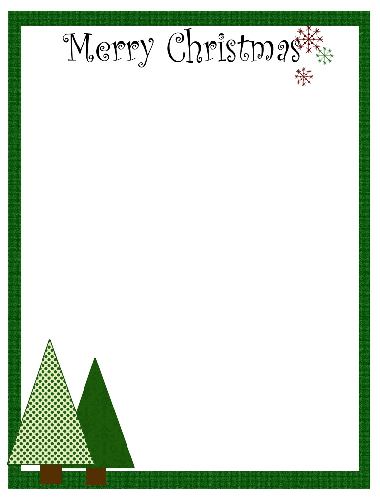 Free christmas letterhead download
