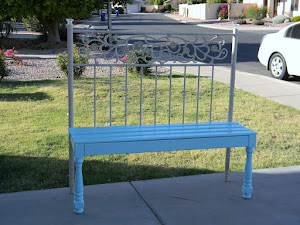 Shabby Chic Garden Bench  *SOLD*
