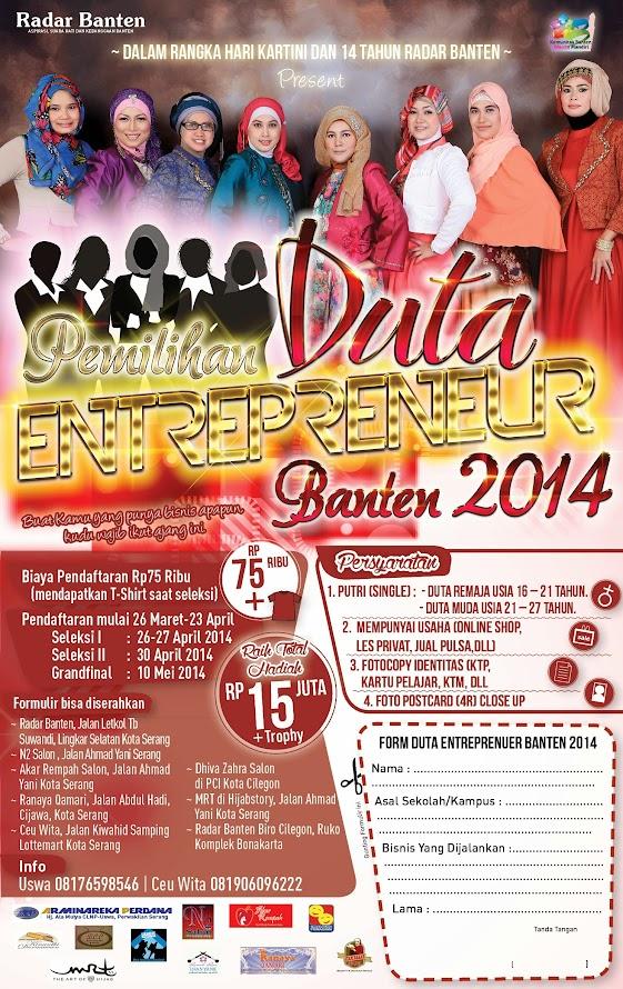 #Event Pemilihan Duta Enterpreneur Banten 2014