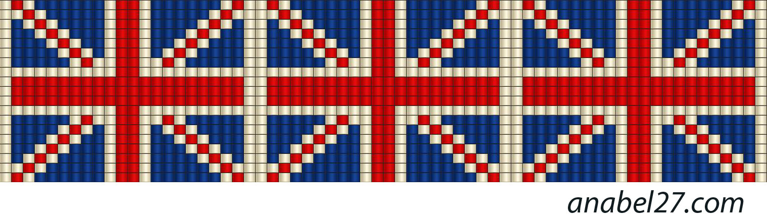 loom beaded pattern Union Jack