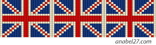 loom beaded pattern Union Jack flag united kingdom bracelet