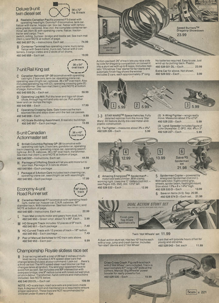 Star Wars Pages From Sears Catalogue 1979