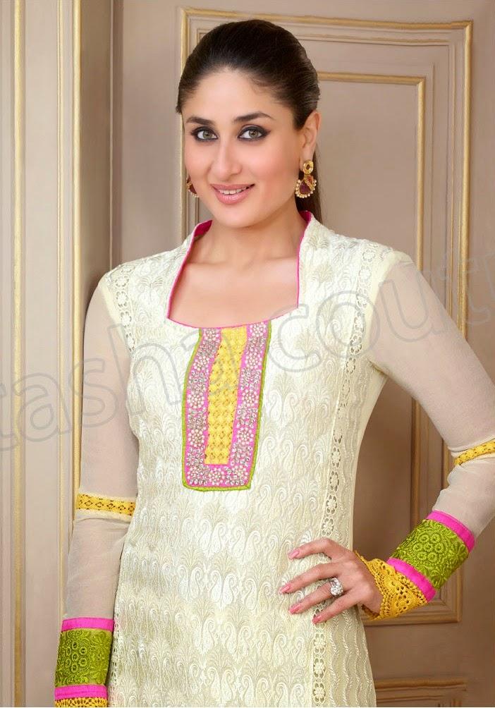 KareenaKapoorSemiGeorgetteSalwarSuits2014 15 wwwfashionhuntworldblogspotcom 007 - Kareena Kapoor Semi Georgette Salwar Suits 2014-2015