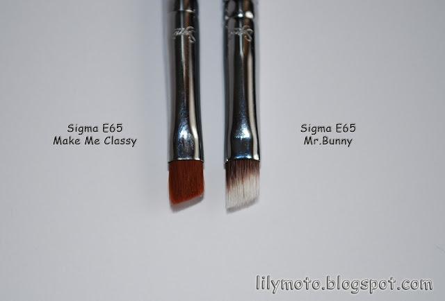 Скошенная кисть для подводки/бровей Sigma Mr.Bunny Е65
