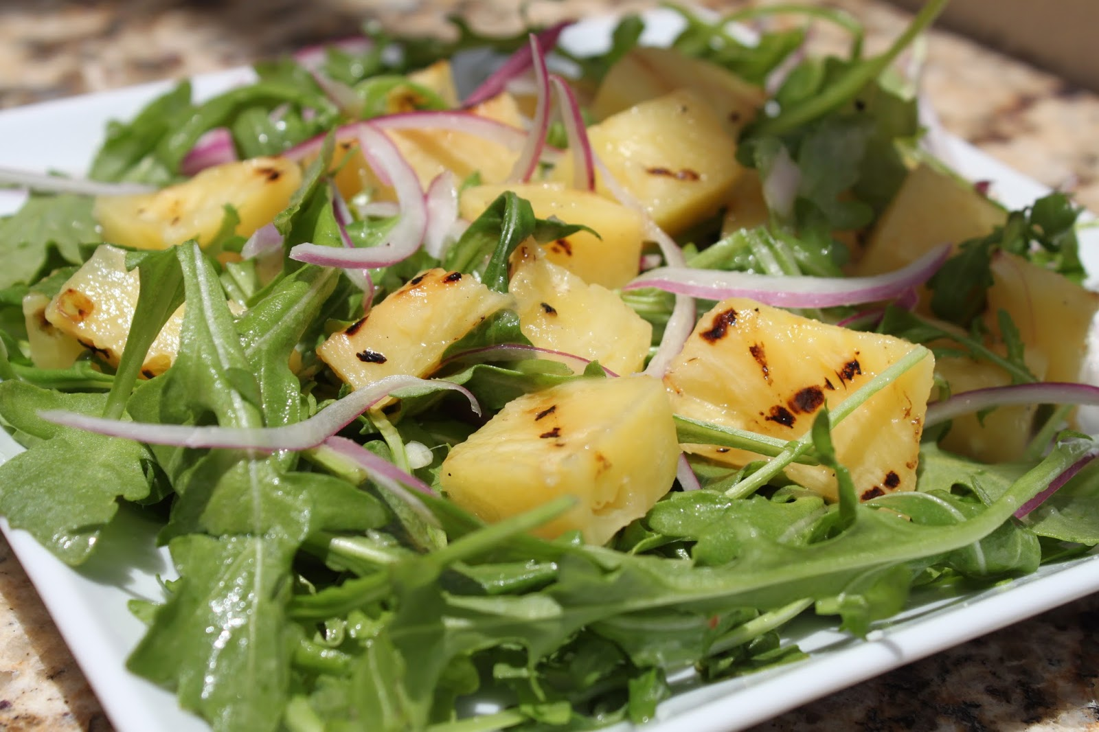 Maine Kitchen: Grilled Pineapple, Arugula, and Red Onion Salad ...